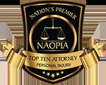 Railroad Injury Lawyer Award - NAOPIA