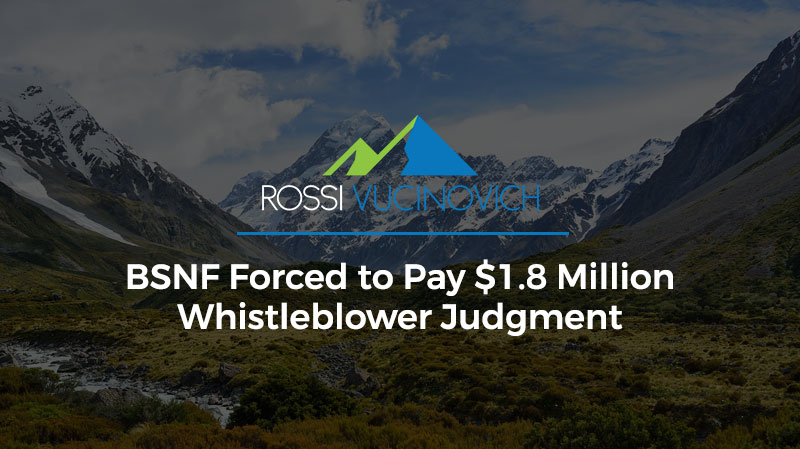 BSNF Forced to Pay $1.8 Million Whistleblower Judgment